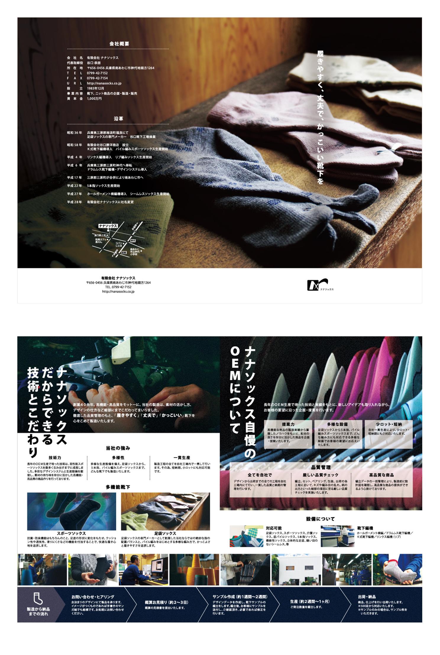 ナナソックス様会社案内パンフレット制作02