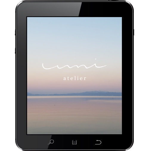 atelier-umi様ホームページ制作タブレット